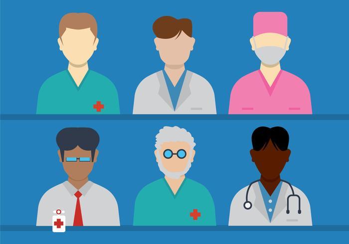 Doctor and Nurse Vectors.