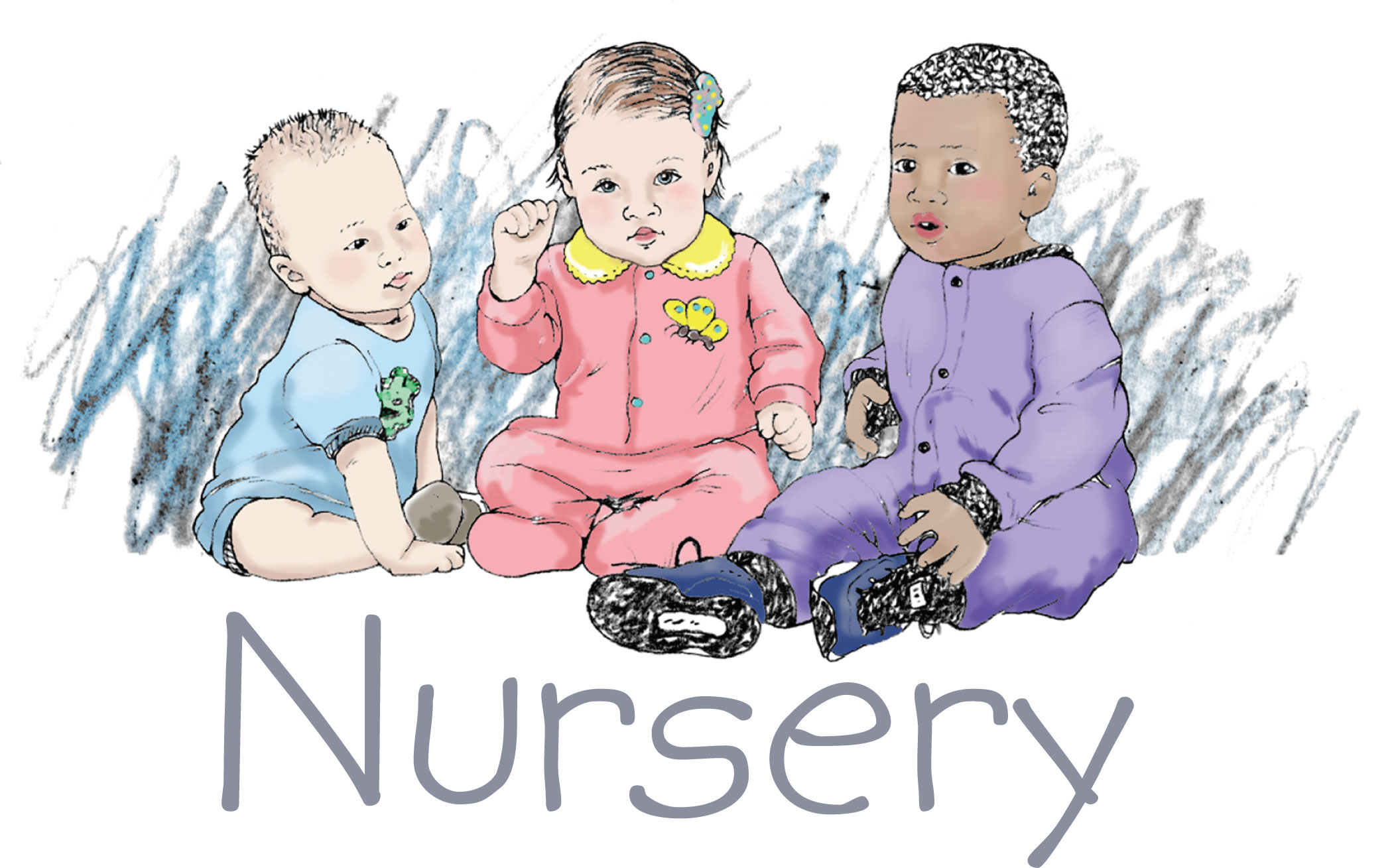 Nursery Workers Clipart.