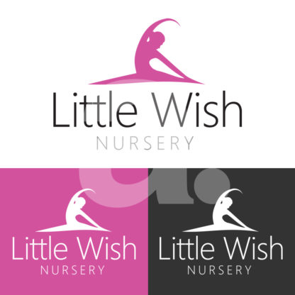 Little Wish Nursery Logo Design.