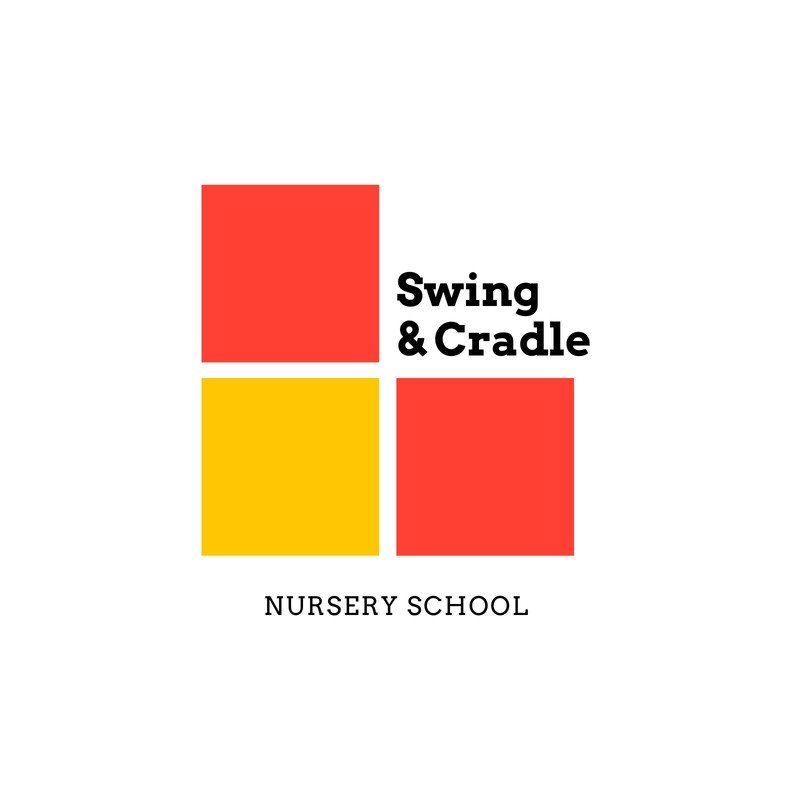 Colorful Squares Nursery Education Logo.