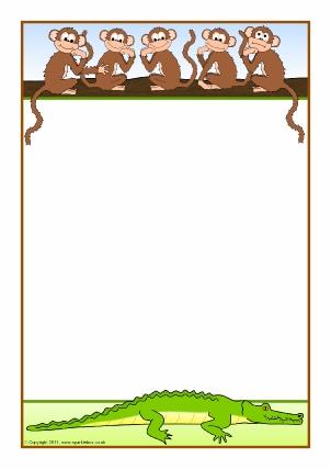 Nursery Rhyme Printable Page Borders.