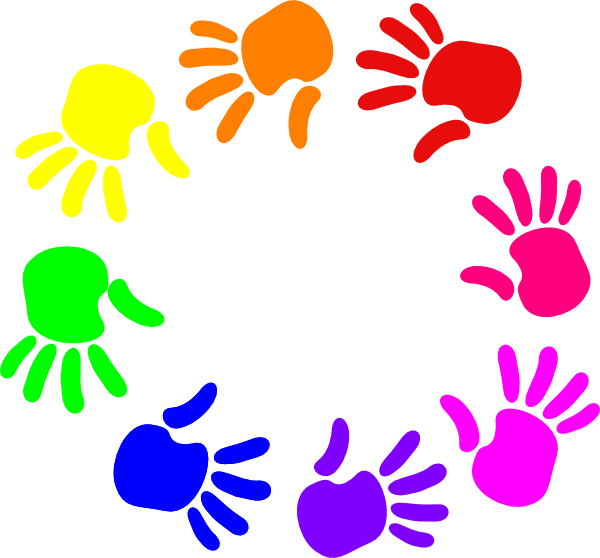 Colorful Circle Of Hands Nursery School Clip Art at Clker.com.