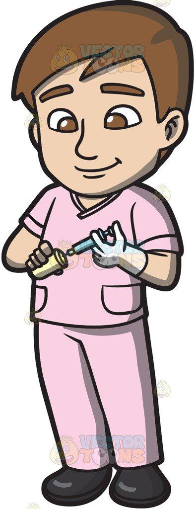 Registered Nurses At Work Clipart.