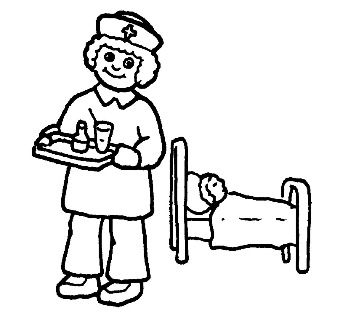 nurses clipart free color pages - Clipground