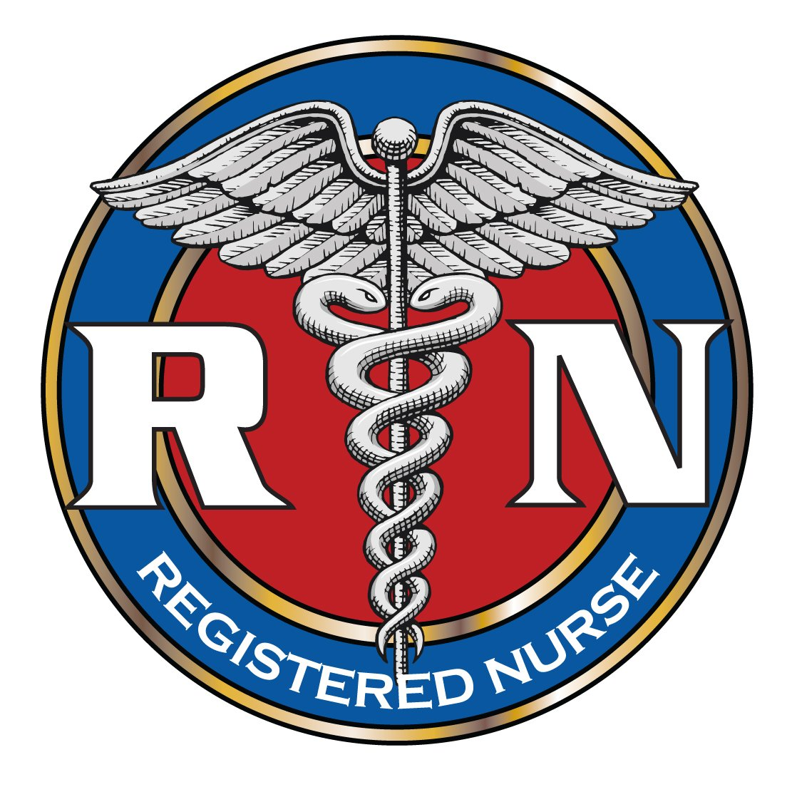 Amazon.com : Registered Nurse Logo Decal.
