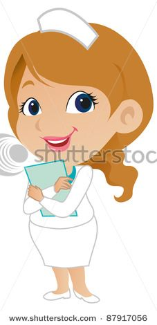 A cute Doctor, Nurse and Surgeon in Scrubs clipart set from.