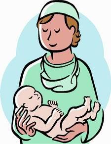 Baby nurse clipart.