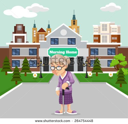 Retirement home clipart.