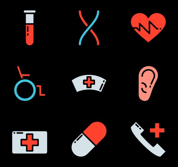 26 nursing icon packs.