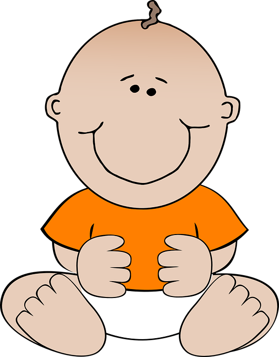 Free vector graphic: Baby, Orange, Infant, Suckling.