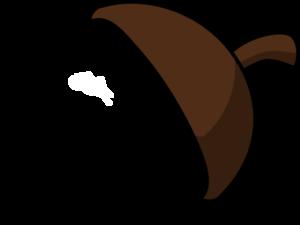 Nut Half Coloured Clip Art at Clker.com.