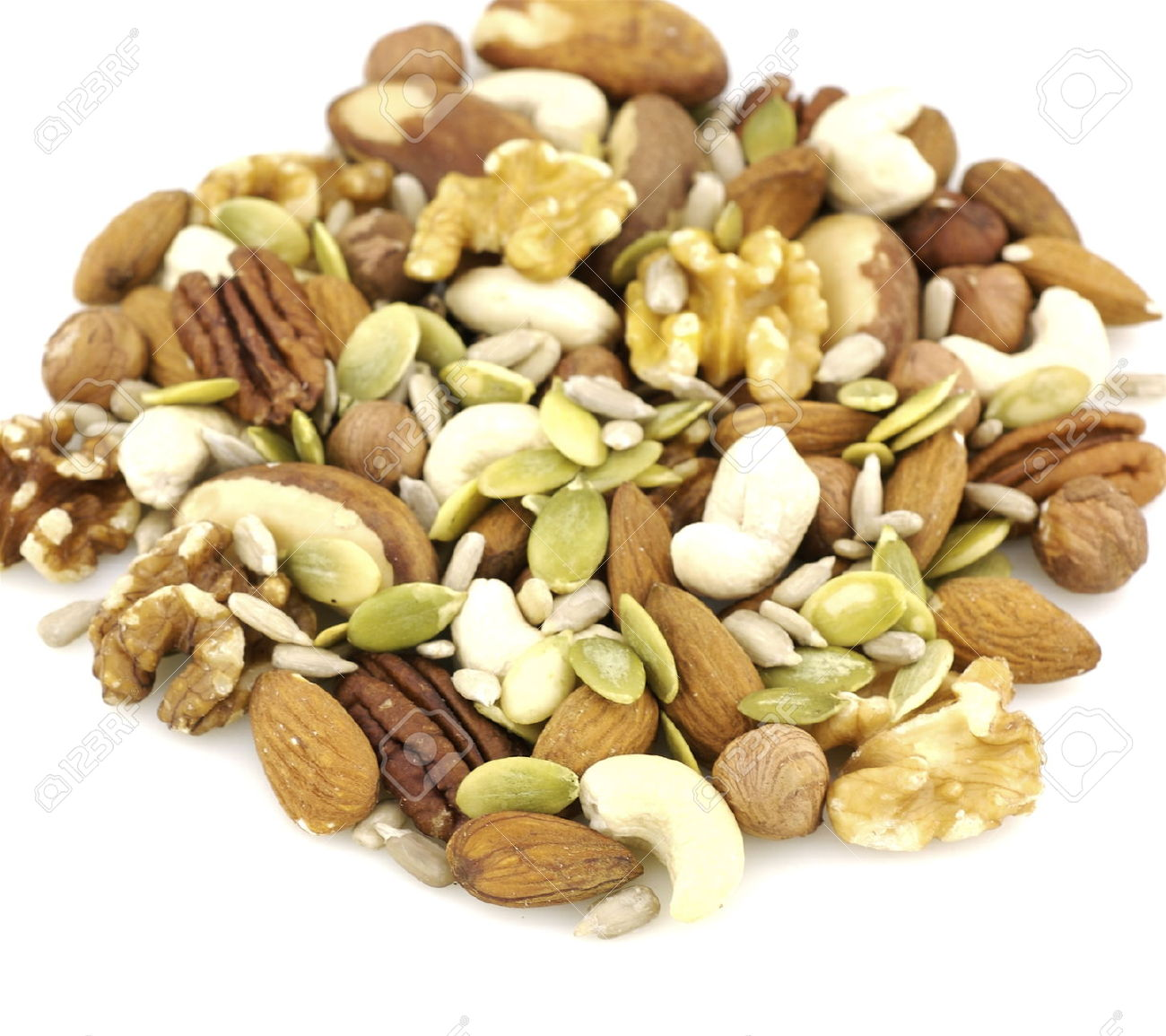 Nuts and seeds clipart.