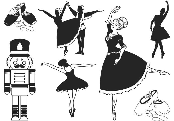 Nutcracker Ballet Vector.