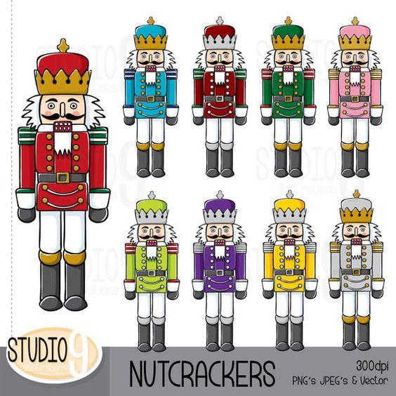 NUTCRACKER Clip Art: NUTCRACKERS Clipart CHRISTMAS Clip Art.