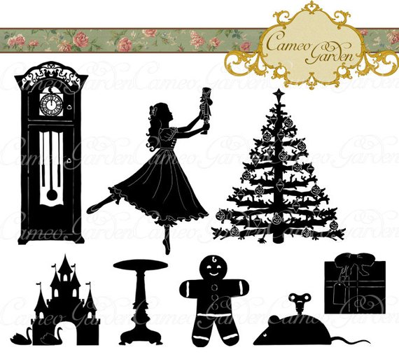 Silhouette The Nutcracker Clipart.