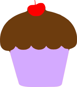 Cupcake With Cherry Clip Art at Clker.com.