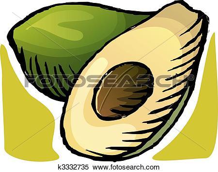 Stock Illustration of nut and slice of nutmeg k3332735.