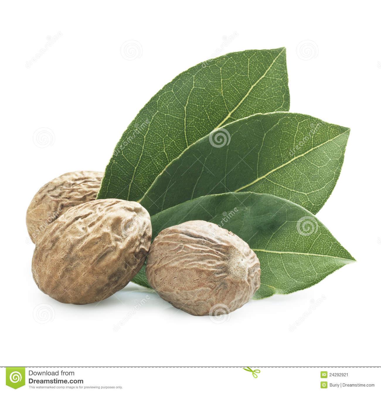 Nutmeg Stock Image.