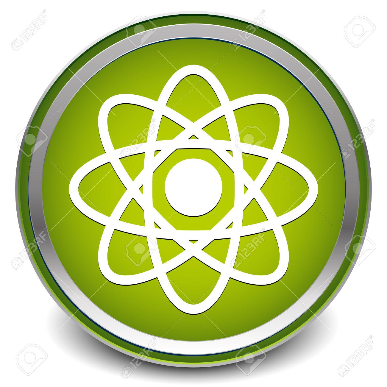 Illustration Of A Molecule, Atom Symbol For Chemistry, Biology.