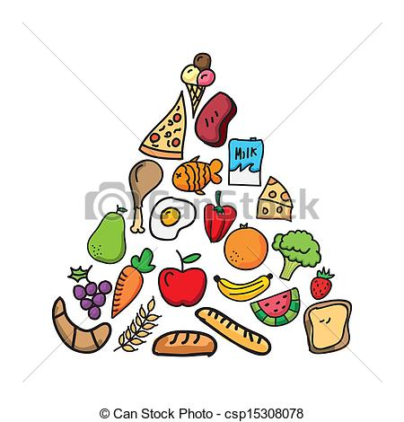 Vectors Illustration of nutrition design over white background.