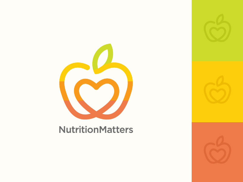 Fruit / Nutrition Logo Design by Jana Novak on Dribbble.