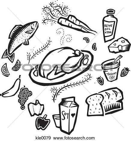 Stock Illustration of Loaf of bread, black and white szo0635.