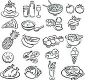 Clip Art of healthy food k19116646.