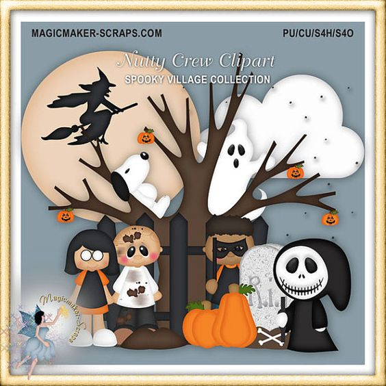 Halloween Clipart, Nutty Crew.