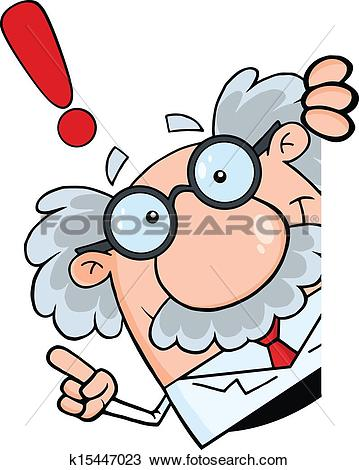Clipart of Illustration of nutty science professor k1565703.