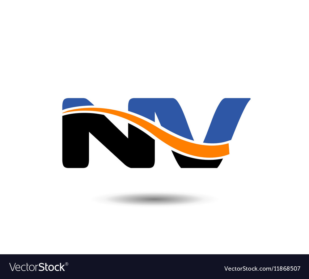 NV company linked letter logo.