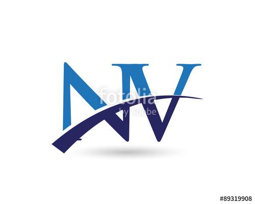 NV Logo Letter Swoosh\