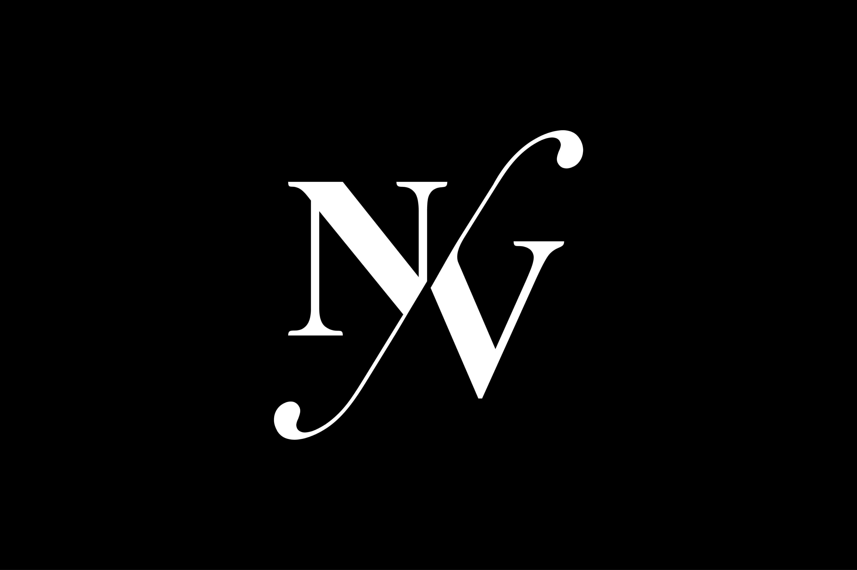 NV Monogram Logo design By Vectorseller.