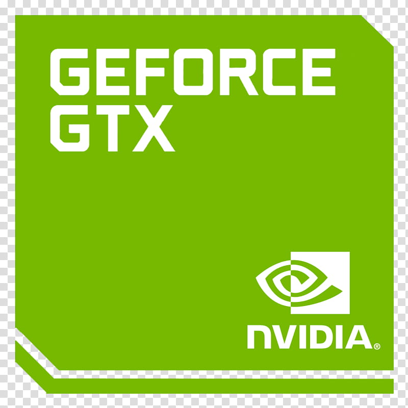 Original Logo NVIDIA GEFORCE Mobile GTX, green GeForce GTX.