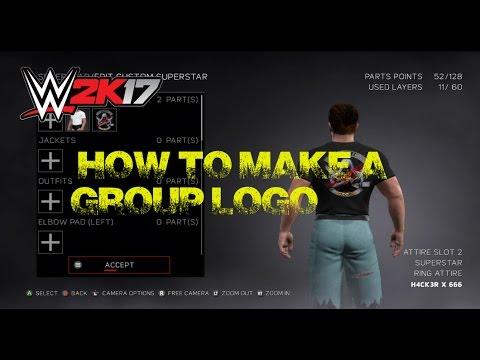 WWE2K17 How to make a Group Logo?.