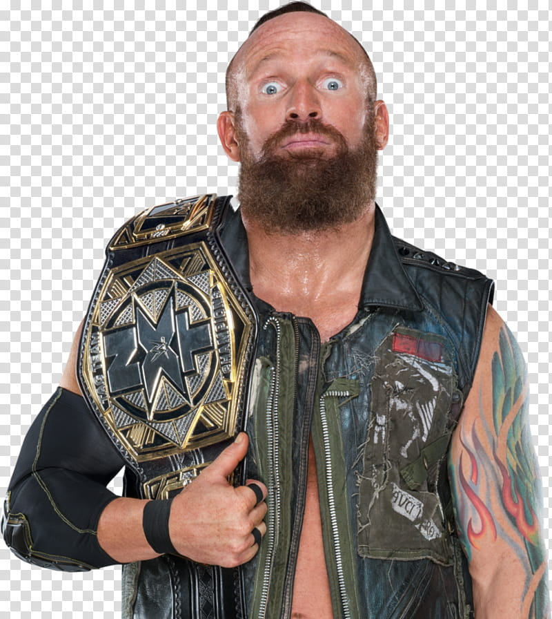 Eric Young With NXT Championship transparent background PNG.