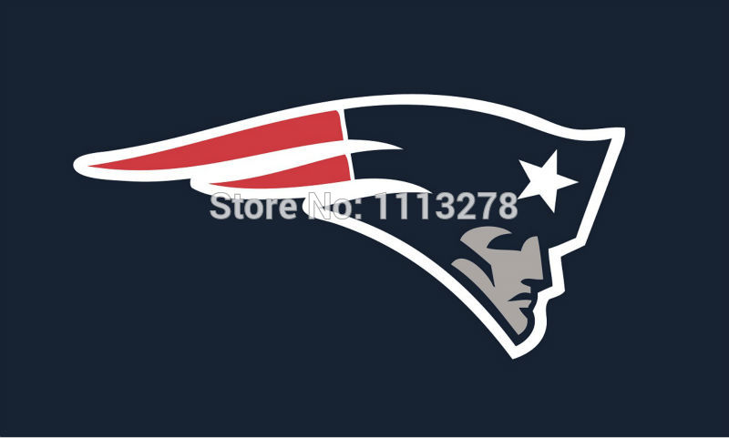 New England Patriots logo flag 3x5 FT Banner 100D Polyester.