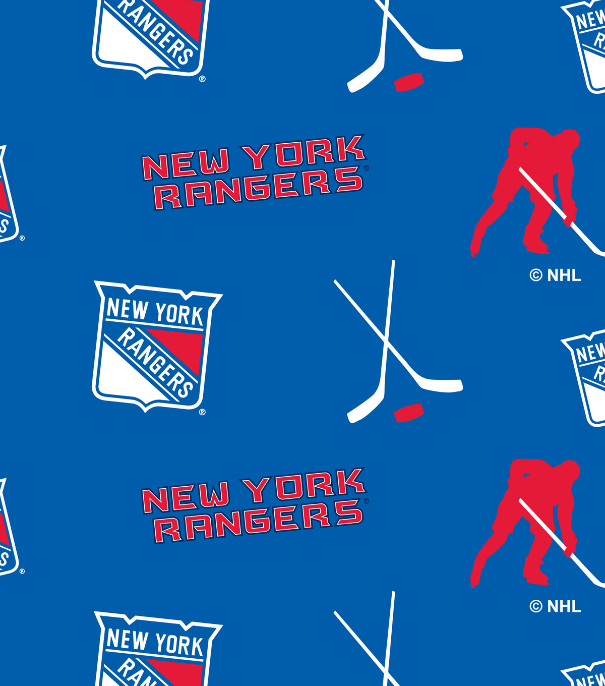 New York Rangers Fleece Fabric.