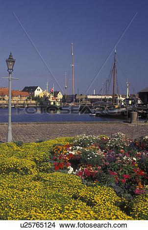 Stock Photo of Denmark, Fyn, Nyborg, Scandinavia, Europe, Boats.