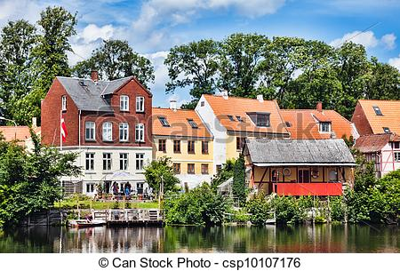 Picture of Old part of the market town Nyborg.