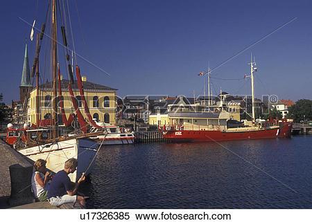 Stock Image of Denmark, Fyn, Nyborg, Scandinavia, Europe, Boats.