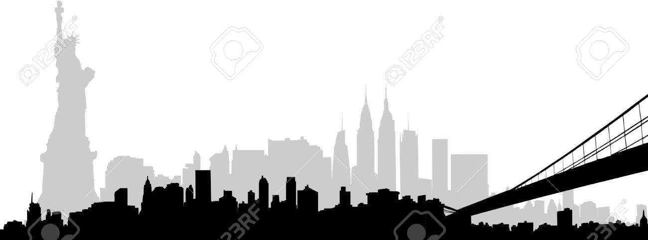 Clipart nyc skyline.