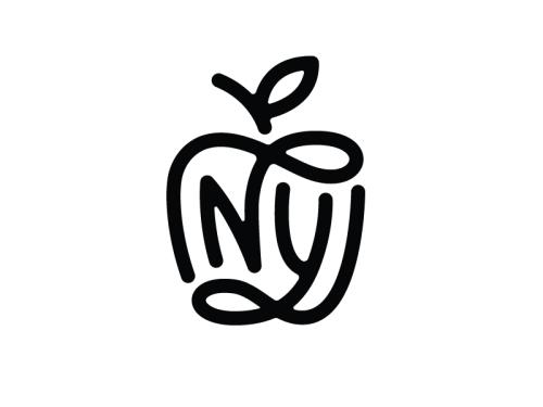NY Monogram by Nick Slater Tags logo design NY New York.