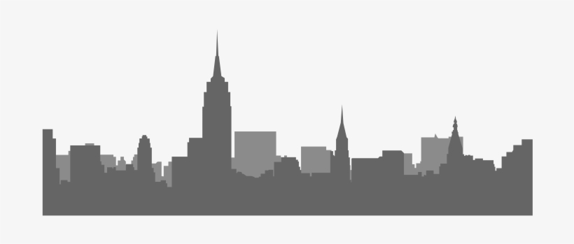 Black And White Picture Nyc Skyline Transparent PNG.