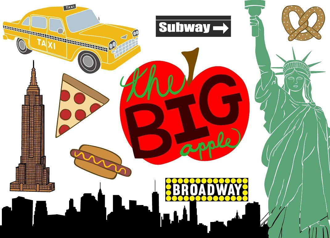 New York City Vector Clip Art by Paula Kim Studio on.