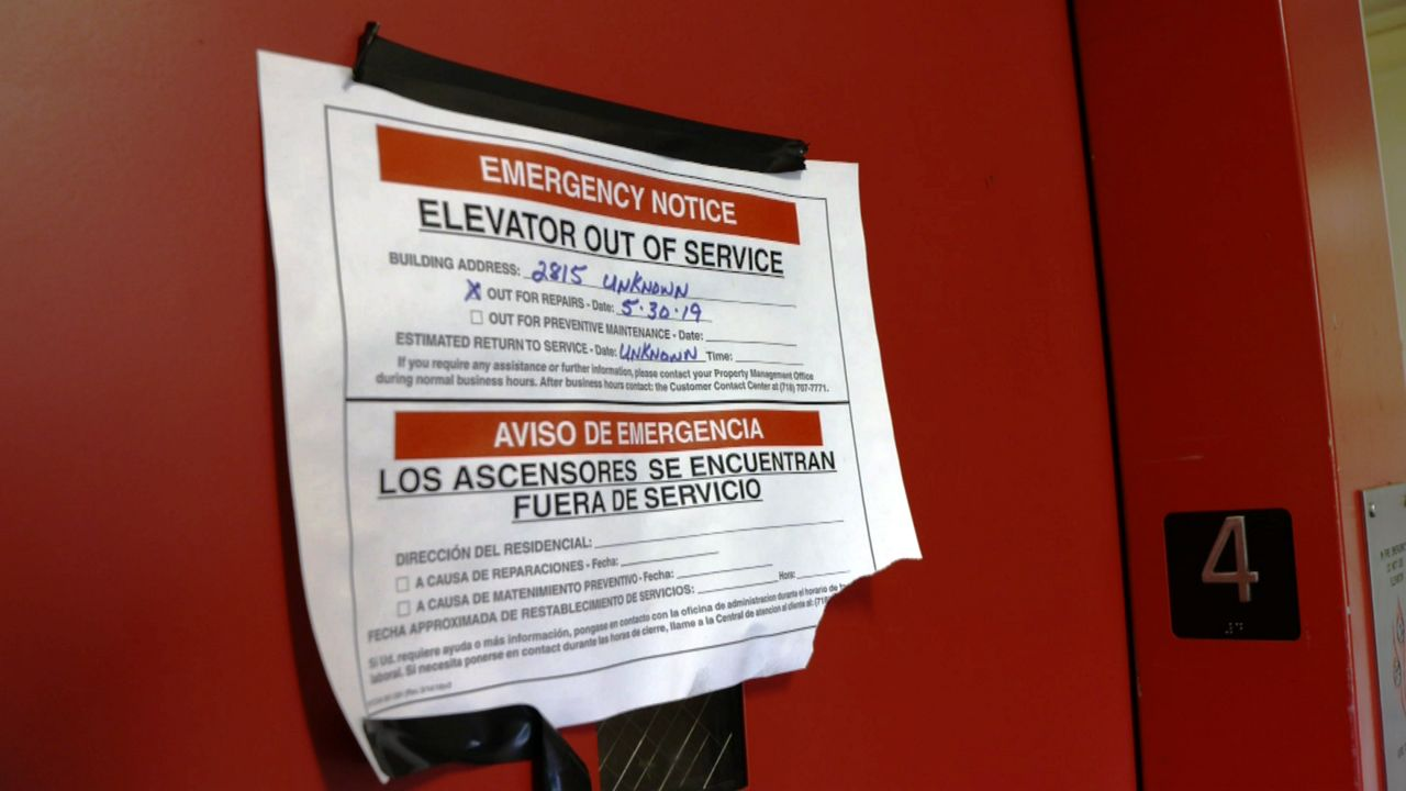 NY1 Investigation Finds Elevator Outages Plague NYCHA.