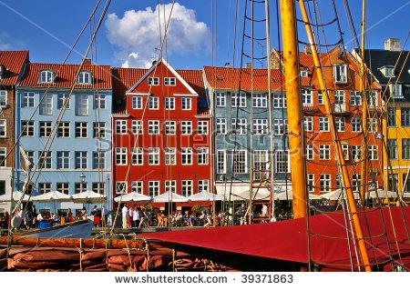 Nyhavn New Harbor Copenhagen Denmark Stock Photo 34922131.