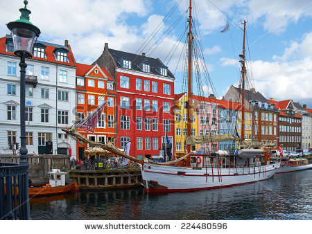 Nyhavn new harbour clipart #7