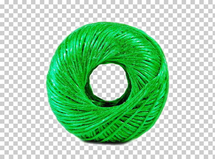 Nylon Yarn Rope, A green line PNG clipart.