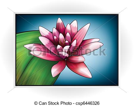 Clip Art Vector of Flower Icon.