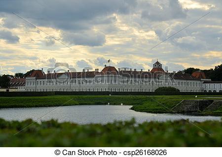 Stock Photo of Schloss Nymphenburg palace, Munich, Bavaria.
